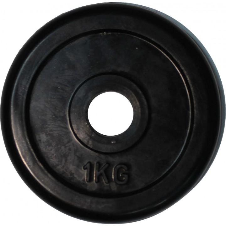 """Диск обрезиненный JAGUAR-SPORT черный """"Classic"""" D-26, 1 кг"""