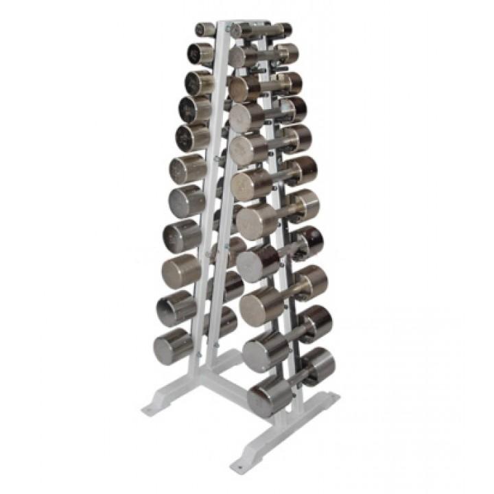 Гантельный ряд PROFIGYM хромированный, от 2 до 16 кг, шаг 1-2 кг (12 пар)