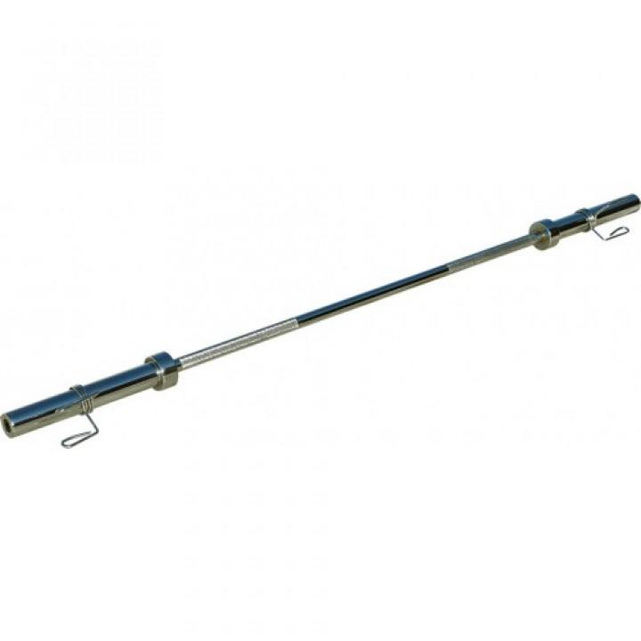 Гриф для штанги JAGUAR-SPORT, D-50, L1500, гладкая втулка, до 150 кг, замки-пружины