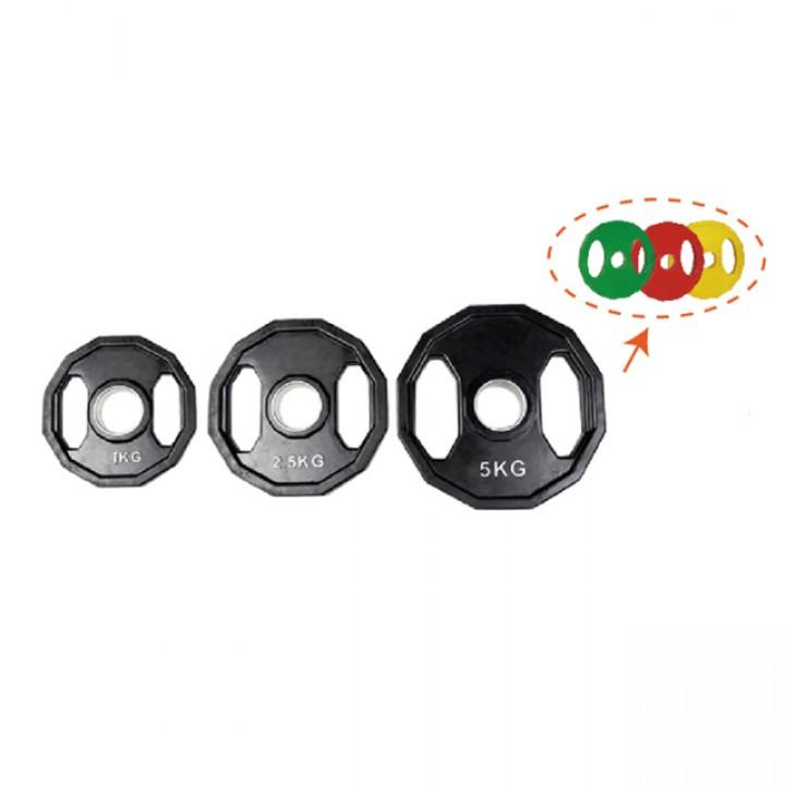 Диски обрезиненные двойной хват цветные и черные JAGUAR-SPORT 1.25-25 кг