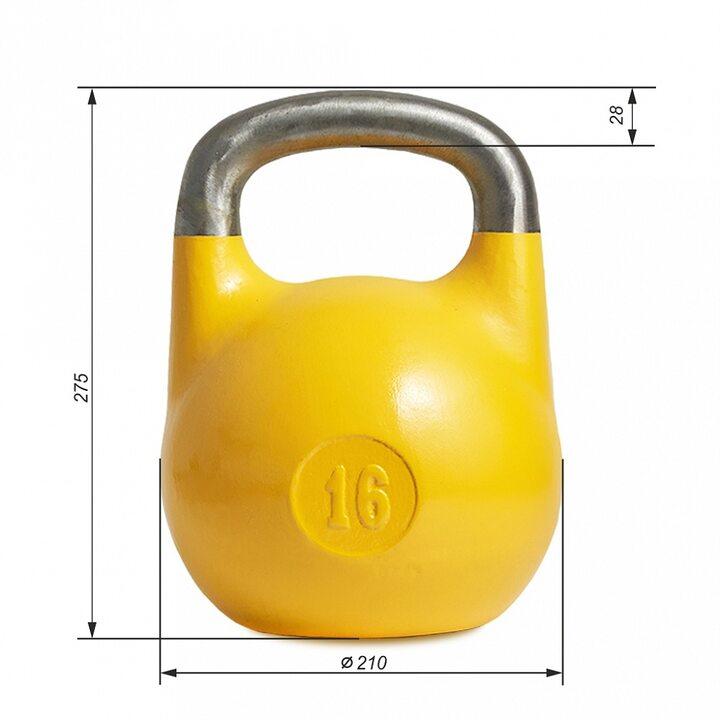Гиря для соревнований ВФГС (стандарт 2021) JAGUAR-SPORT 16 кг