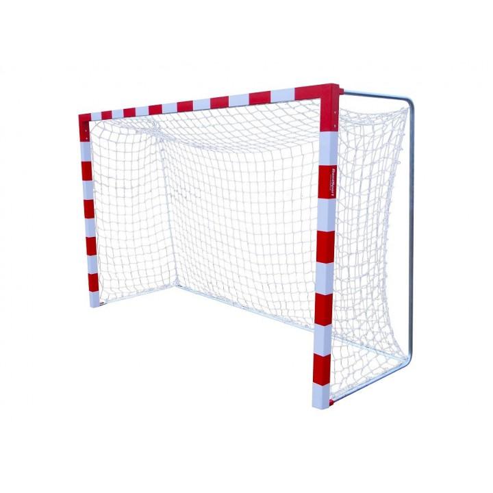 Сетка гандбол/мини-футбол Д=3,5мм, яч. 100*100, цв. белый. Размер 2,00*3,00*1.0м. ПА JAGUAR-SPORT