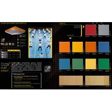 Спортивное напольное ПВХ покрытие GraboFlex Gymfit 60 (зелёный, синий, оранжевый, серый)