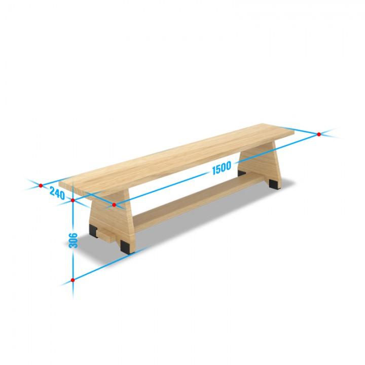 Скамейка гимнастическая SuperEuro-1000