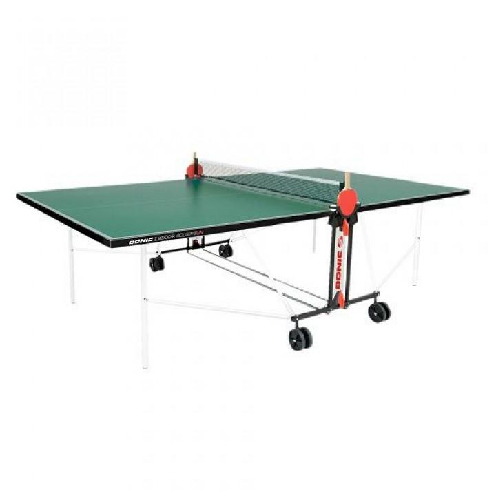 Всепогодный теннисный стол Donic Outdoor Roller FUN зелёный