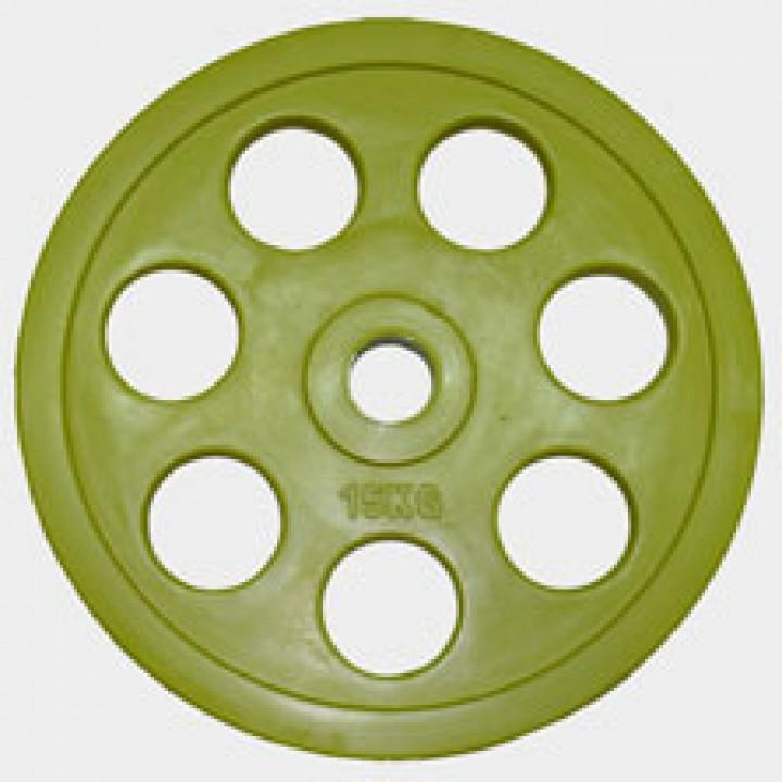 "Олимпийский диск евро-классик с хватом ""Ромашка"" Oxygen 15 кг."