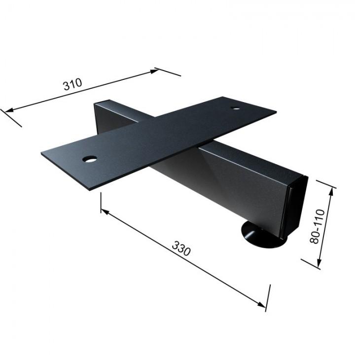 Опора для бревна гимнастического низкая металлическая (комплект)