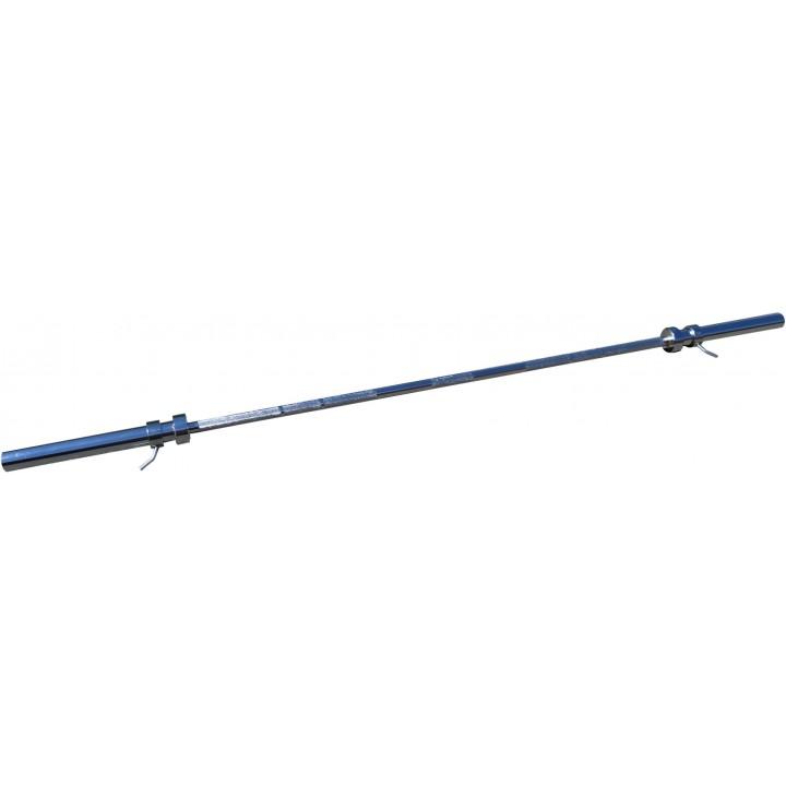 Гриф для штанги JAGUAR-SPORT, D-50, L2200, гладкая втулка, до 500 кг, замки-пружины