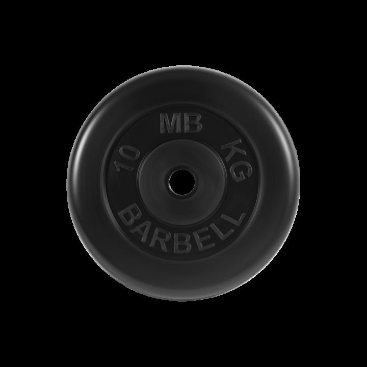 """Диск обрезиненный """"Стандарт"""" МВ Barbell 10 кг, чёрный, 26 мм"""