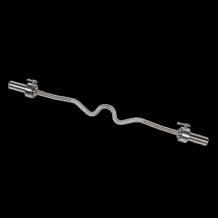 Гриф хромированный Z-образный МВ Barbell, гладкая втулка 50 мм