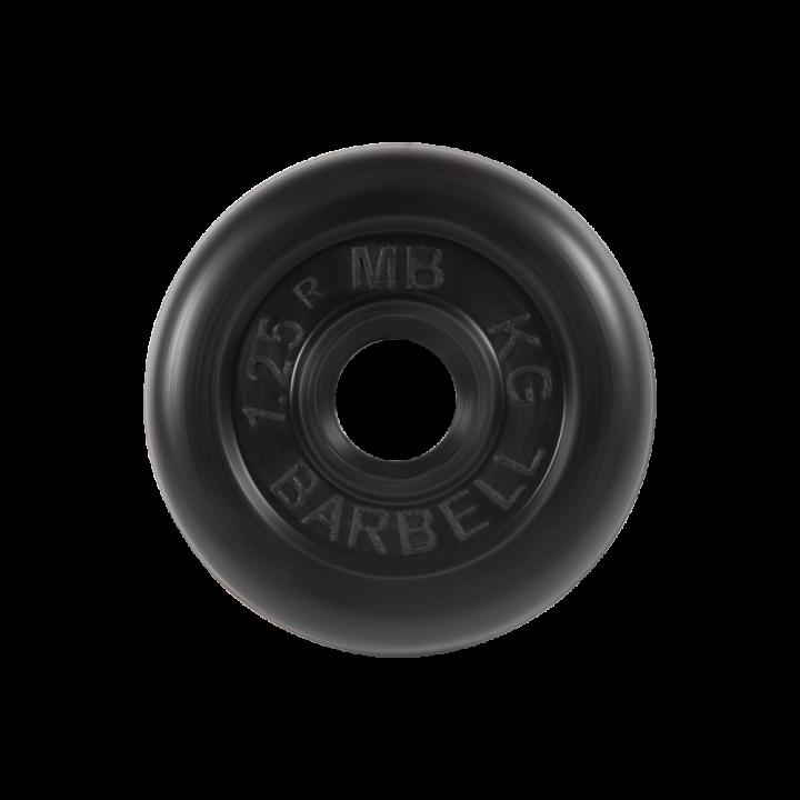 """Диск обрезиненный """"Стандарт"""" МВ Barbell 1.25 кг, чёрный, 31 мм"""