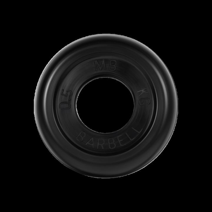 """Диск обрезиненный """"Стандарт"""" МВ Barbell 0.5 кг, чёрный, 31 мм"""
