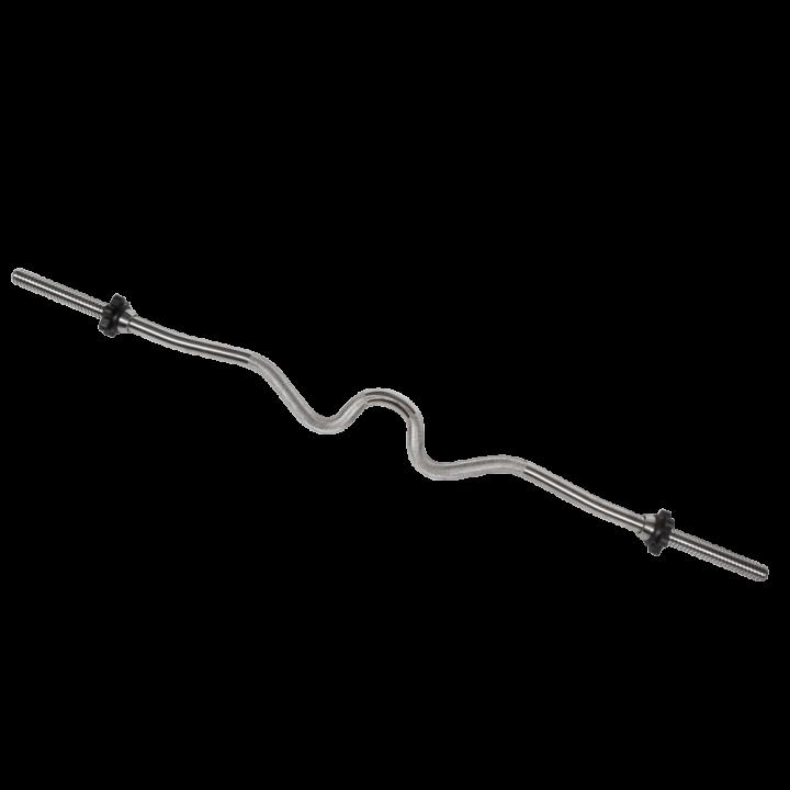 Гриф хромированный Z - образный МВ Barbell, замок - гайка Вейдера с резьбой 25 мм