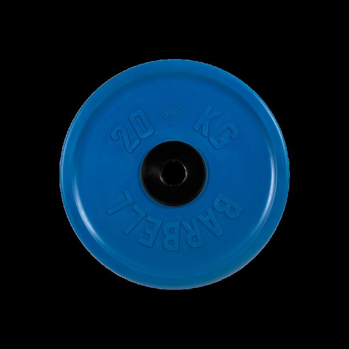 """Диск обрезиненный """"Евро-классик"""" МВ Barbell 20 кг, синий, 51 мм"""