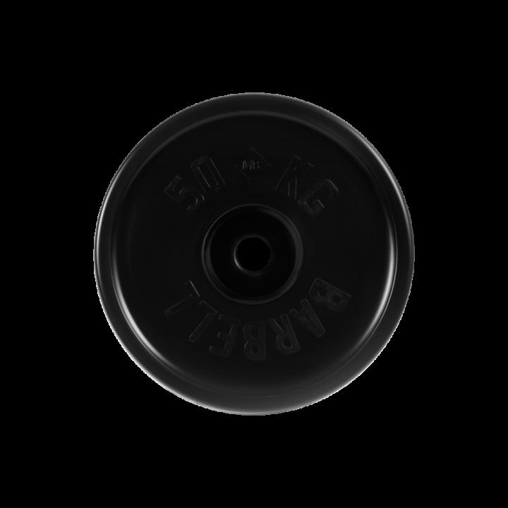 """Диск обрезиненный """"Евро-классик"""" МВ Barbell 50 кг, чёрный, 51 мм"""