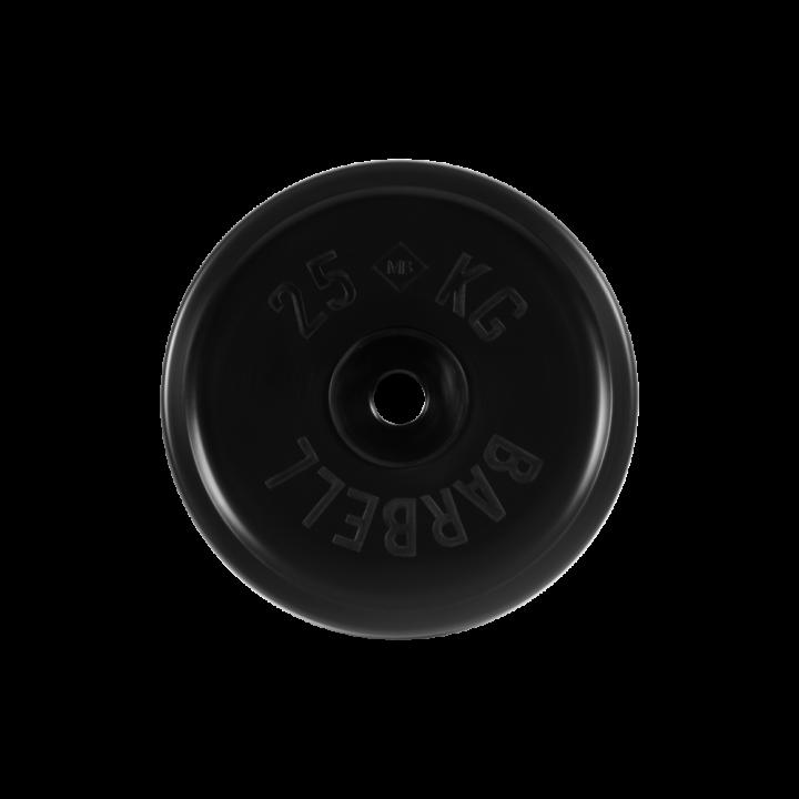 """Диск обрезиненный """"Евро-классик"""" МВ Barbell 25 кг, чёрный, 51 мм"""