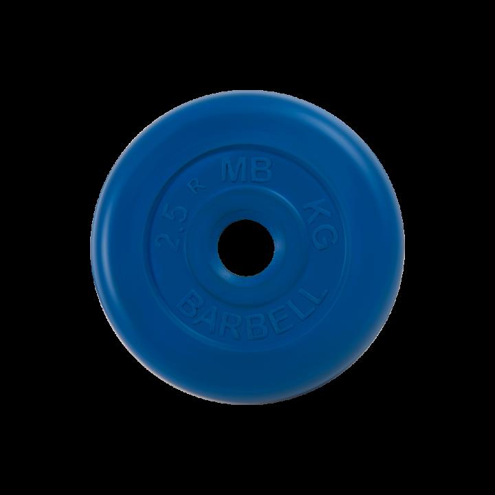 "Диск обрезиненный ""Стандарт"" МВ Barbell 2.5 кг, синий, 26 мм"