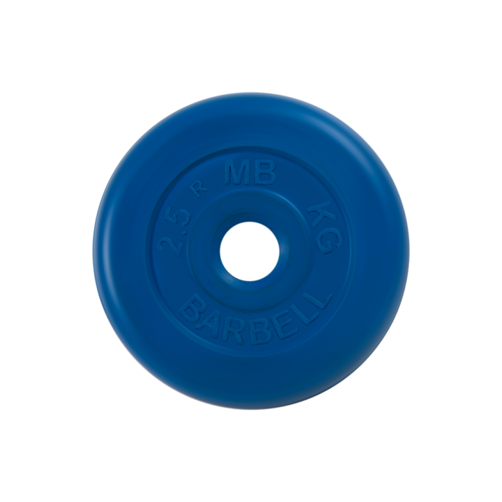 "Диск обрезиненный ""Стандарт"" МВ Barbell 2.5 кг, синий, 31 мм"