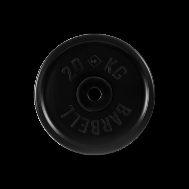 """Диск обрезиненный """"Евро-классик"""" МВ Barbell 20 кг, чёрный, 51 мм"""
